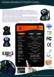 IP camera indoor pan tilt HD