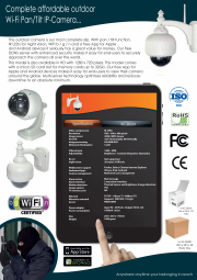 IP Pan / Tilt outdoor camera